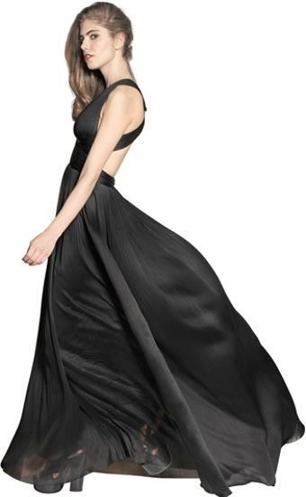 Maria Lucia Hohan Silk Tulle Long Dress - Lyst