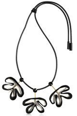Marni Resin Leather Flower Necklace - Lyst