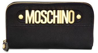 Moschino Logo Leather Wallet - Lyst