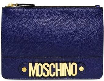 Moschino Rosella Grained Leather Pouch - Lyst