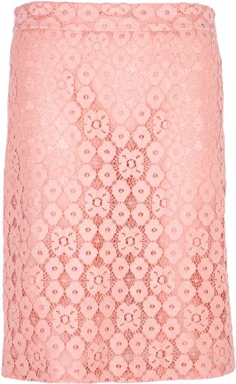 Moschino Cheap & Chic Lace Pencil Skirt - Lyst