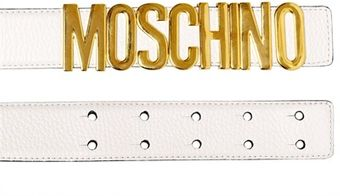 Moschino 35mm Grained Leather Belt - Lyst