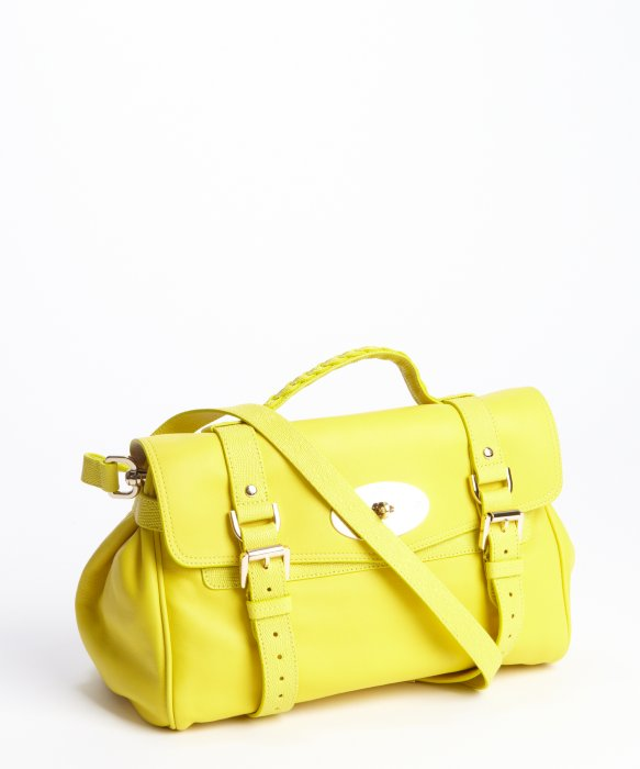 ddc61b9e093 ... where to buy lyst mulberry yellow leather alexa convertible small  satchel in yellow 32c60 c5911 ...