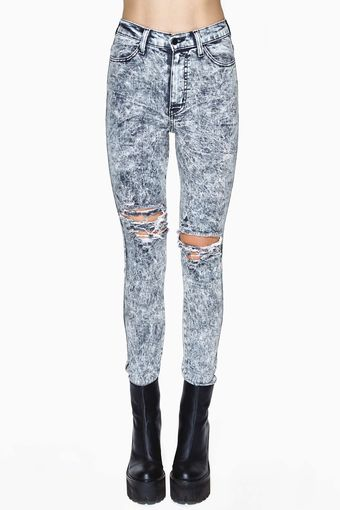Nasty Gal So Sketch Skinny Jeans - Lyst