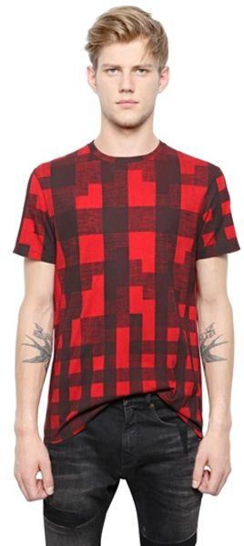 Neil Barrett Cotton Modal Blend T-shirt - Lyst
