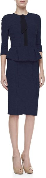 Nina Ricci Tweed Pencil Skirt Navyblack - Lyst