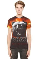 Philipp Plein Cotton Bear and Flames T-shirt - Lyst