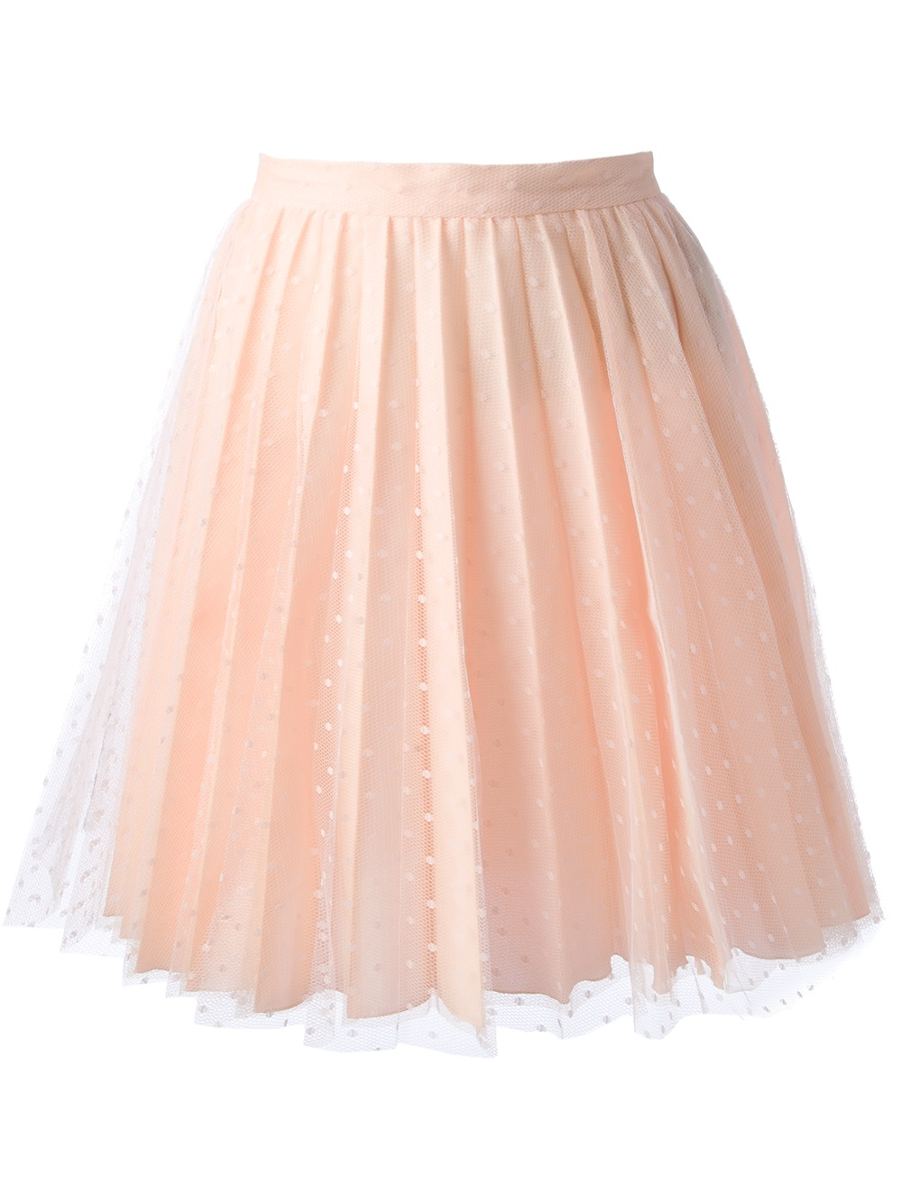 Red Valentino Pleated Lace Skirt in Pink (pink & purple ...
