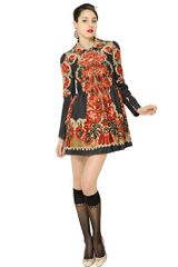 RED Valentino Marzipan Printed Wool Cloth Coat - Lyst