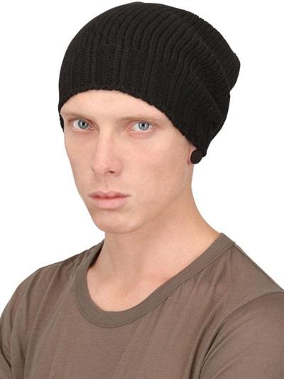 1f6336abc39e81 Rick Owens Alpaca Wool Knit Beanie in Black for Men - Lyst