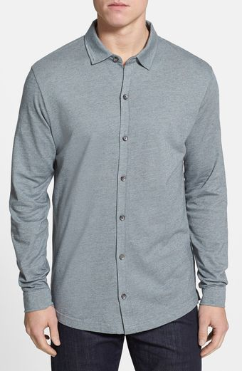 Robert Barakett Ludwig Birds Eye Knit Shirt - Lyst