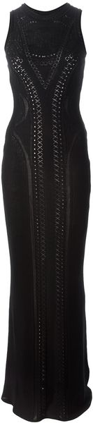 Roberto Cavalli Sleeveless Evening Gown - Lyst