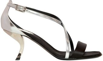 Roger Vivier 70mm Virgule Satin Mirror Sandals - Lyst
