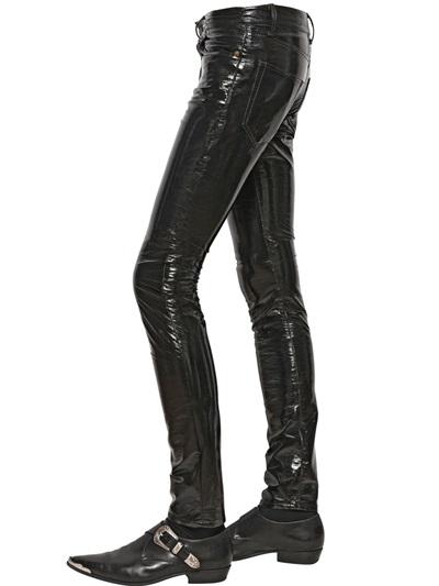 Lyst Saint Laurent 155cm Skinny Faux Patent Leather