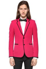 Saint Laurent Grain De Poudre Wool Jacket - Lyst