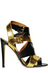 Sergio Rossi 110mm Balance Metallic Leather Sandals - Lyst
