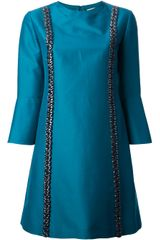 Stella McCartney Crystal Embellished Shift Dress