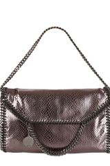Stella McCartney Three Chain Falabella Metallic Snake Bag - Lyst
