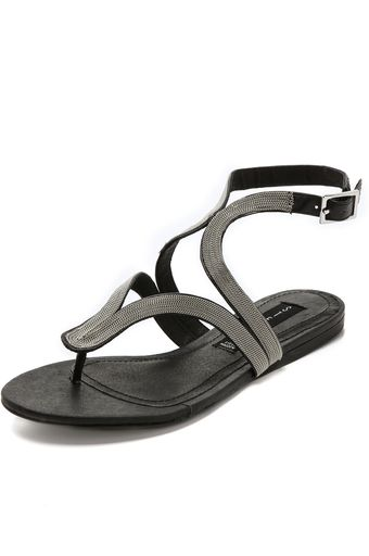 Steven Resorts Metallic Sandals - Lyst