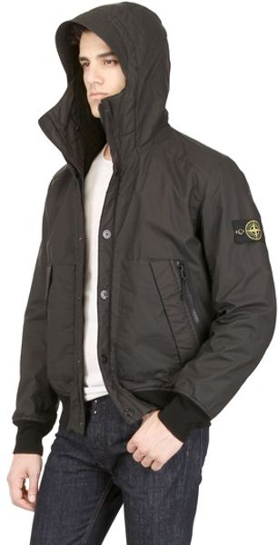 Stone Island Coated Garment Dyed Muslin Jacket in Black for Men - Lyst