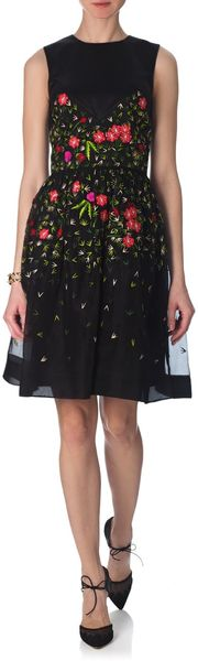 Temperley London Embroidered Primrose Flared Dress - Lyst
