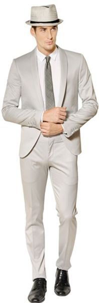 The Suits Stretch Cotton Twill Tuxedo Suit - Lyst