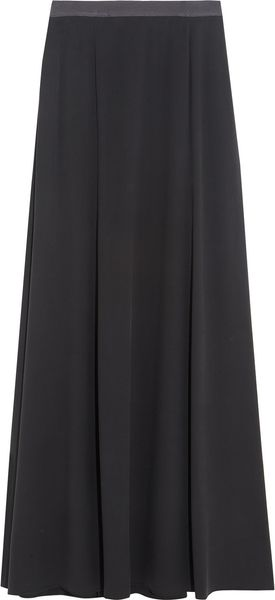 Theyskens' Theory Brushed Stretchsilk Maxi Skirt - Lyst