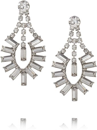 Tom Binns Faux Real Silverplated Swarovski Crystal Earrings - Lyst