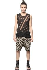 Tom Rebl Ripped Viscose Jersey Tank Top - Lyst