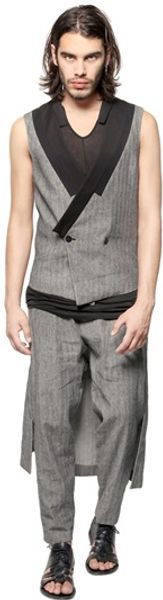 Tom Rebl Linencotton Blend Tweed Vest - Lyst