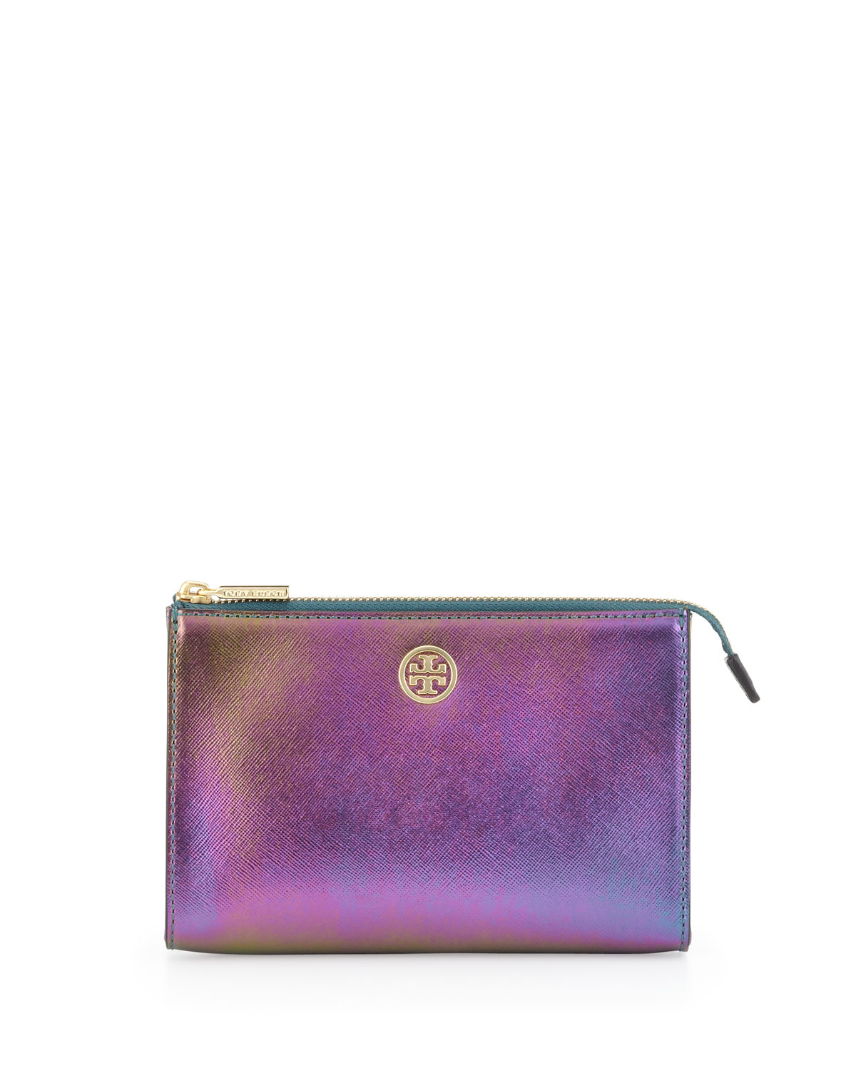 Tory Burch Robinson Hologram Cosmetic Case Purple