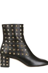 Valentino 50mm Rockstud Allover Low Boots - Lyst