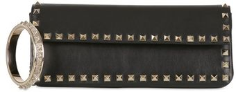 Valentino Rockstud Nappa Leather Clutch - Lyst