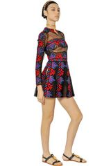 Valentino Tribal Embroidered Tulle Dress - Lyst