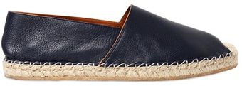 Valentino Embossed Leather Espadrillas - Lyst