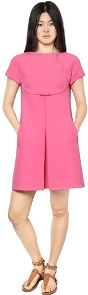 Valentino Wool Silk Crepe Dress - Lyst