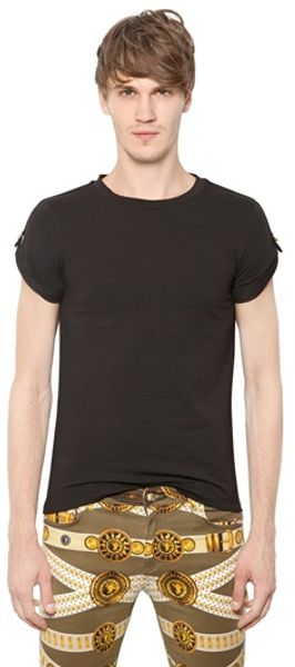 Versus  Safety Pin Cotton Jersey T-Shirt - Lyst