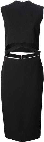Victoria Beckham Cut Out Dress - Lyst