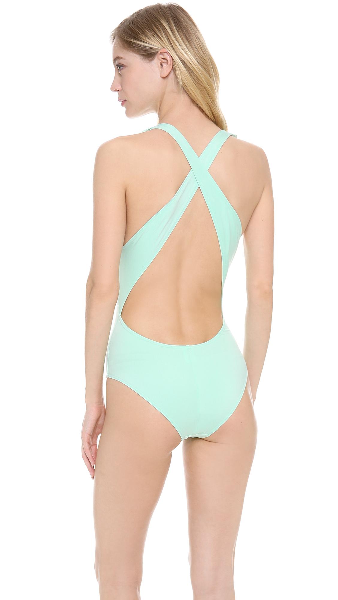 4471ff3392 Lyst - Zinke Weekender One Piece Swimsuit Mint in Green