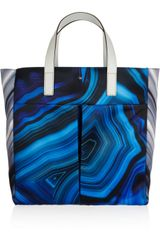 Anya Hindmarch Nevis Printed Satin and Leather Tote - Lyst