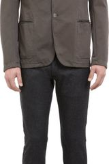 Armani Jersey Two Button Sport Coat - Lyst