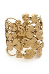 Aurelie Bidermann Nympheas Leaves Cuff - Lyst