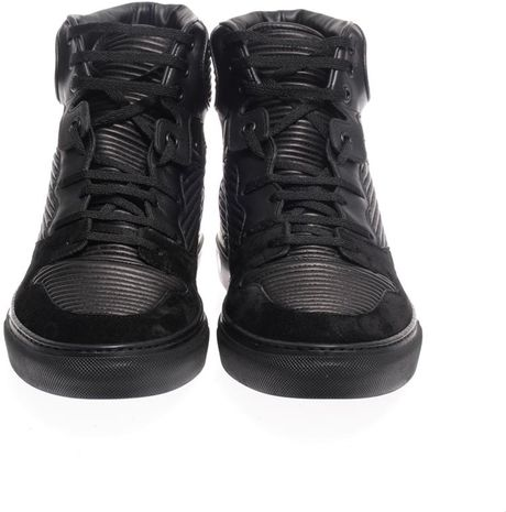 Leather High Tops Men Leather High Top Trainers