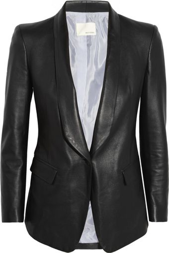 Band Of Outsiders Leather Blazer - Lyst