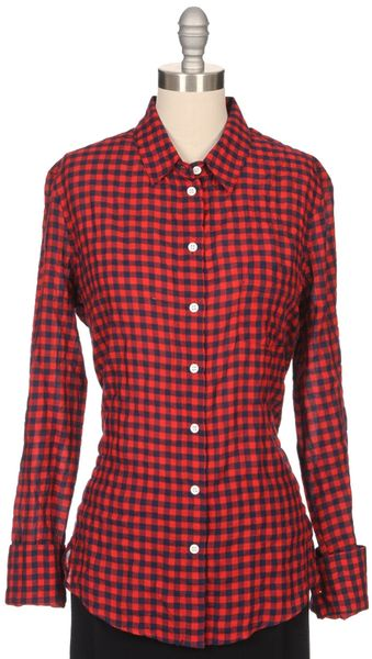 Band Of Outsiders Gingham Easy Shirt - Lyst