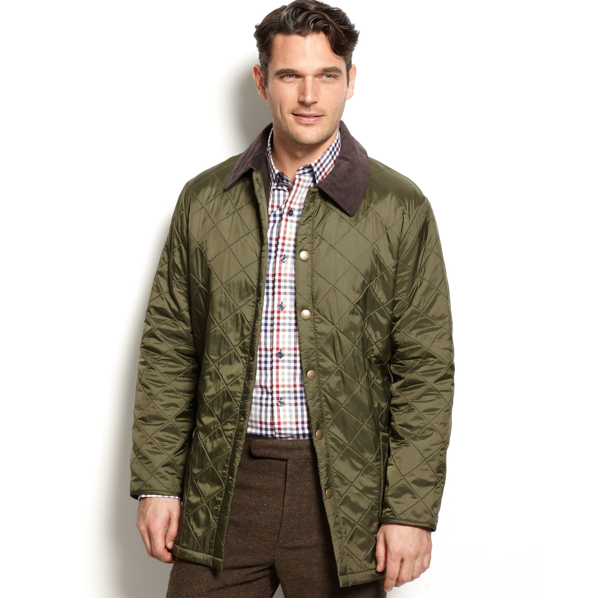Barbour Eynsford Quilted Jacket in Green for Men | Lyst