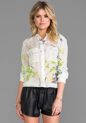 BCBGMAXAZRIA Top in White - Lyst