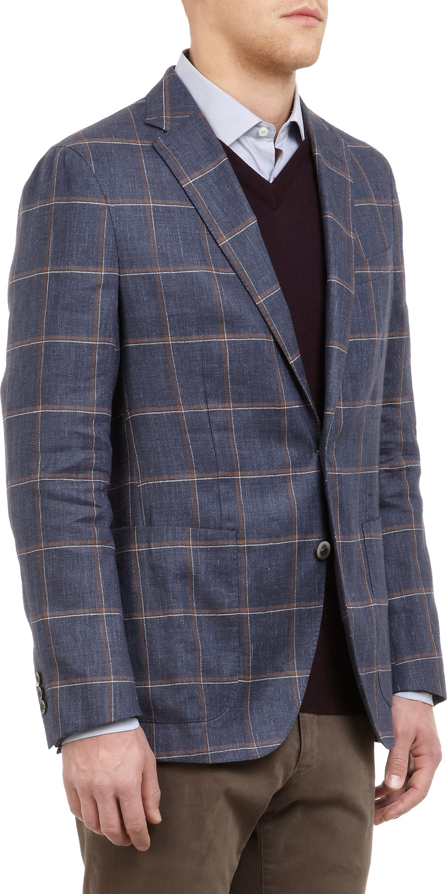 Lyst Boglioli Windowpane Plaid Twobutton Sportcoat In