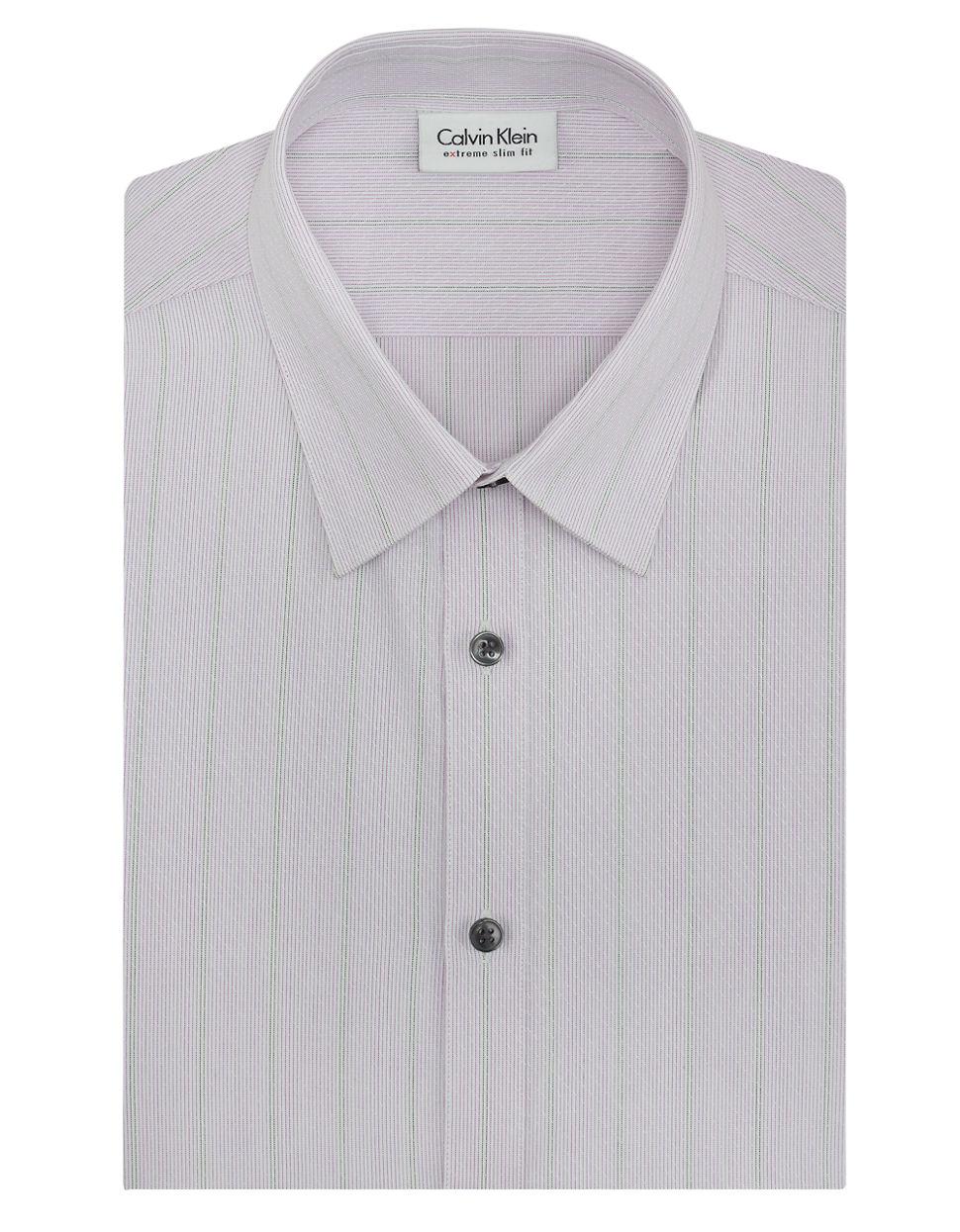 Calvin klein tonal stripe stretch x extreme slim fit dress for Calvin klein slim fit stretch shirt