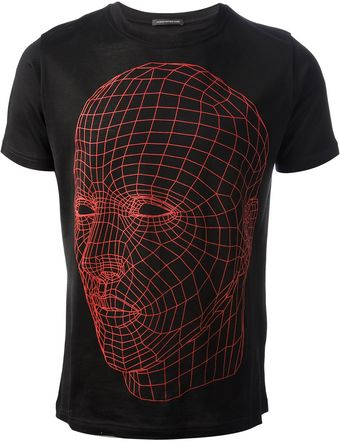 Christopher Kane Xray Head Print T-shirt - Lyst